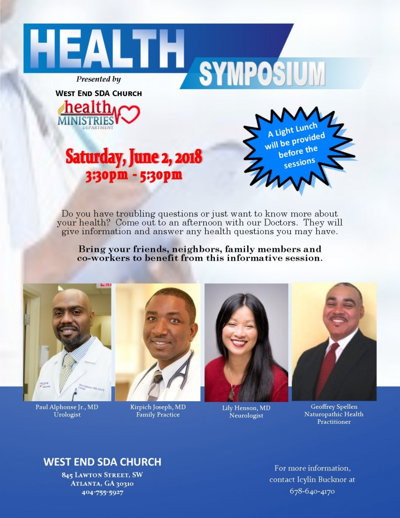 Health Symposium flyer